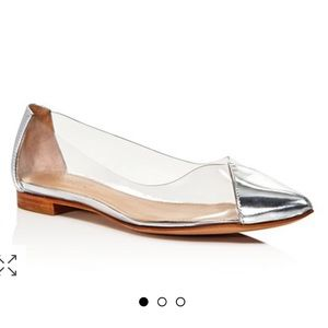 Schutz Transparent patent leather vinyl  flat shoe